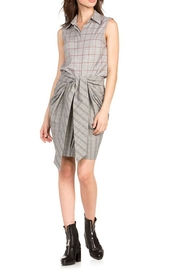 Dance & Marvel Grey Plaid Dress - Product Mini Image