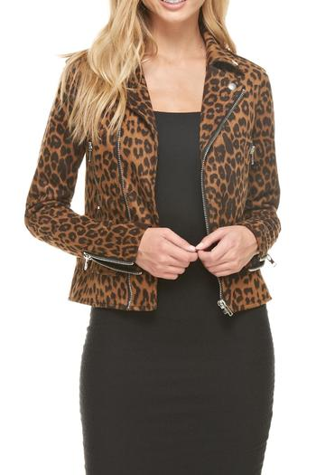 Dance Amp Marvel Leopard Moto Jacket From Washington By