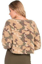 Dance & Marvel Long-Sleeve Camouflage Sweater - Side cropped