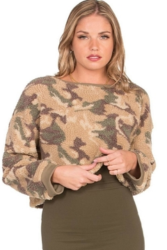 Dance & Marvel Long-Sleeve Camouflage Sweater - Product List Image