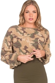 Dance & Marvel Long-Sleeve Camouflage Sweater - Front cropped