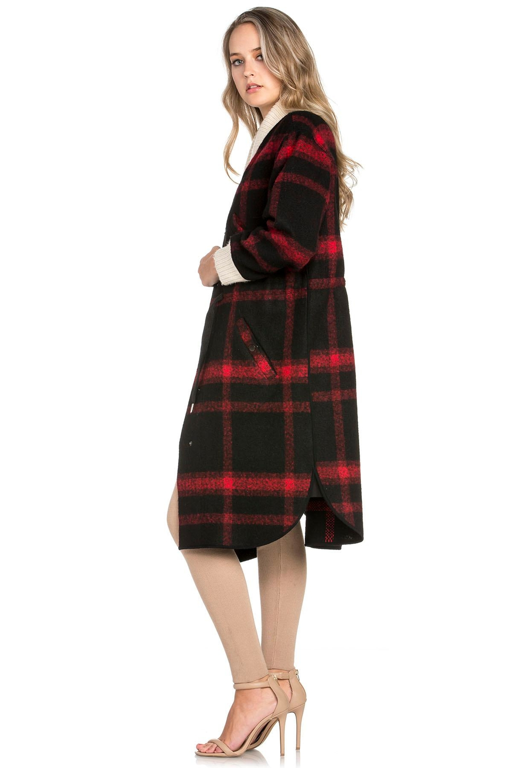 Dance & Marvel Plaid Wool Jacket - Front Full Image