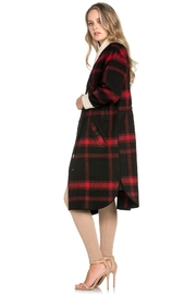 Dance & Marvel Plaid Wool Jacket - Front full body