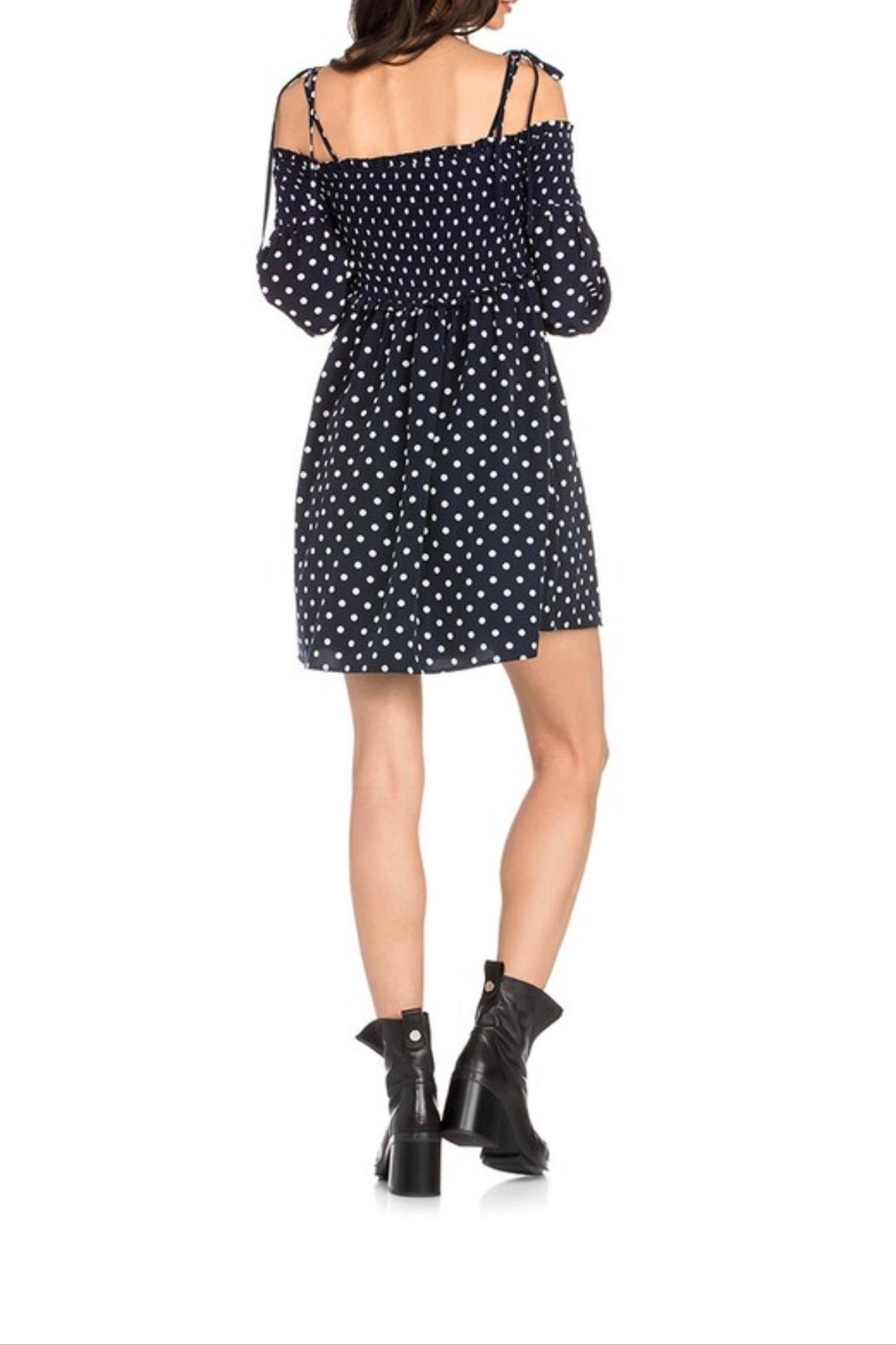 Dance & Marvel Polka Dot Dress - Side Cropped Image