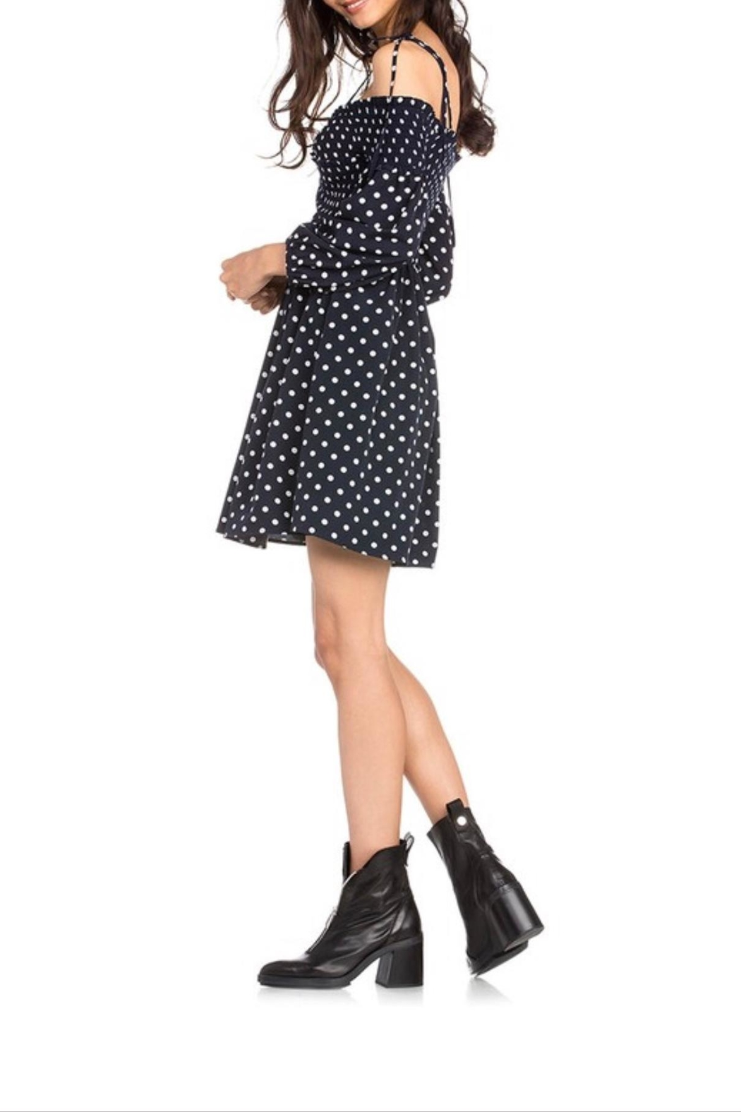 Dance & Marvel Polka Dot Dress - Front Full Image
