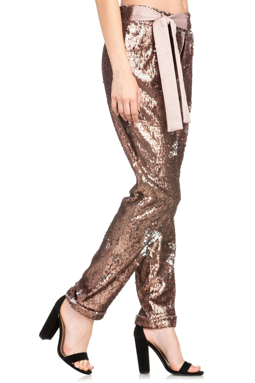 Dance & Marvel Sequin Pants - Front Full Image
