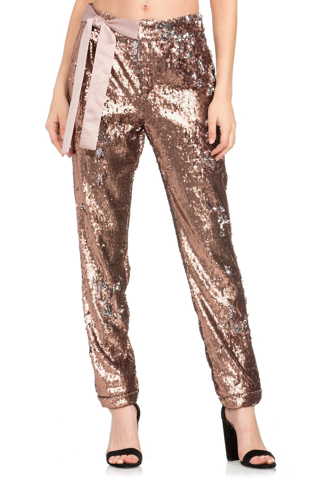 Dance & Marvel Sequin Pants - Front Cropped Image