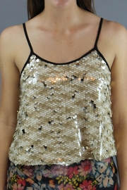 Dance & Marvel Shimmer Crop Tank - Front cropped