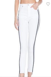 Dance & Marvel White Denim Pants - Product Mini Image