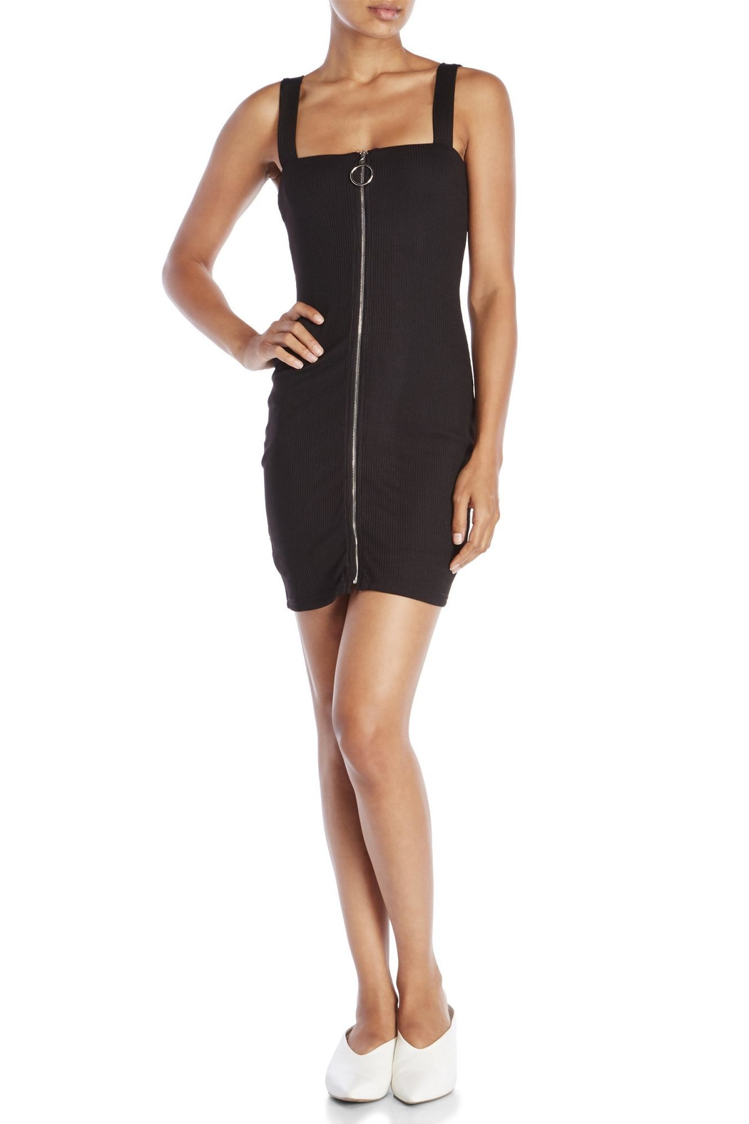 Dance and Marvel Front Zip Dress - Front Full Image