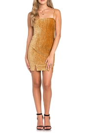 Dance and Marvel Gold Velvet Dress - Product Mini Image