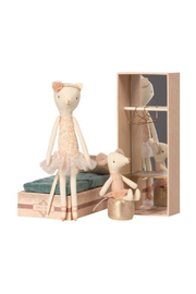 Maileg Dancing Cat & Mouse In Shoebox - Product Mini Image