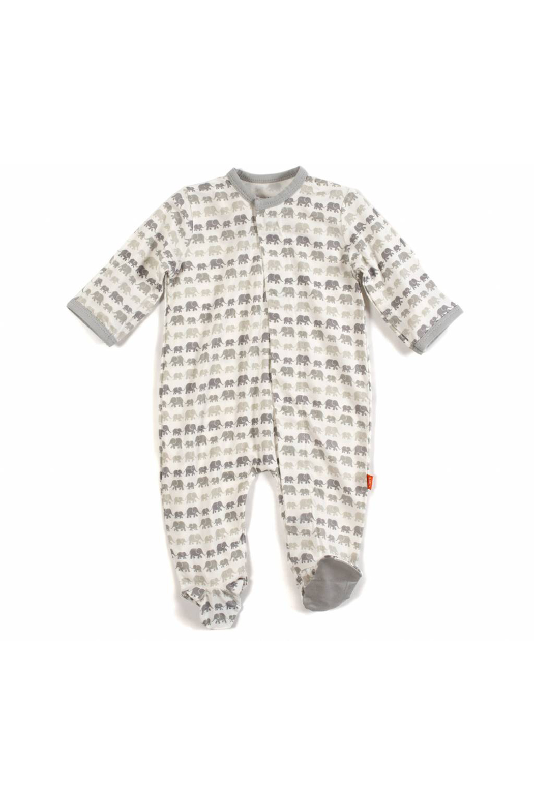 Magnificent Baby Dancing Elephants Modal Magnetic Footie - Main Image