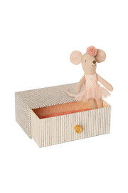 Maileg Dancing Mouse in Daybed - Little Sister - Front cropped