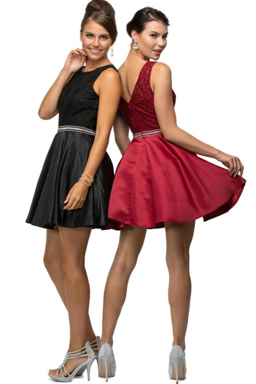 DANCING QUEEN Fit-And-Flare Prom Dress - Front Full Image