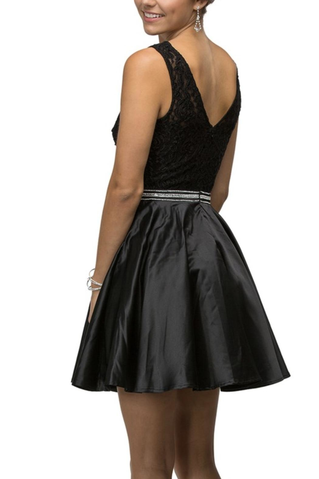 DANCING QUEEN Fit-And-Flare Prom Dress - Main Image