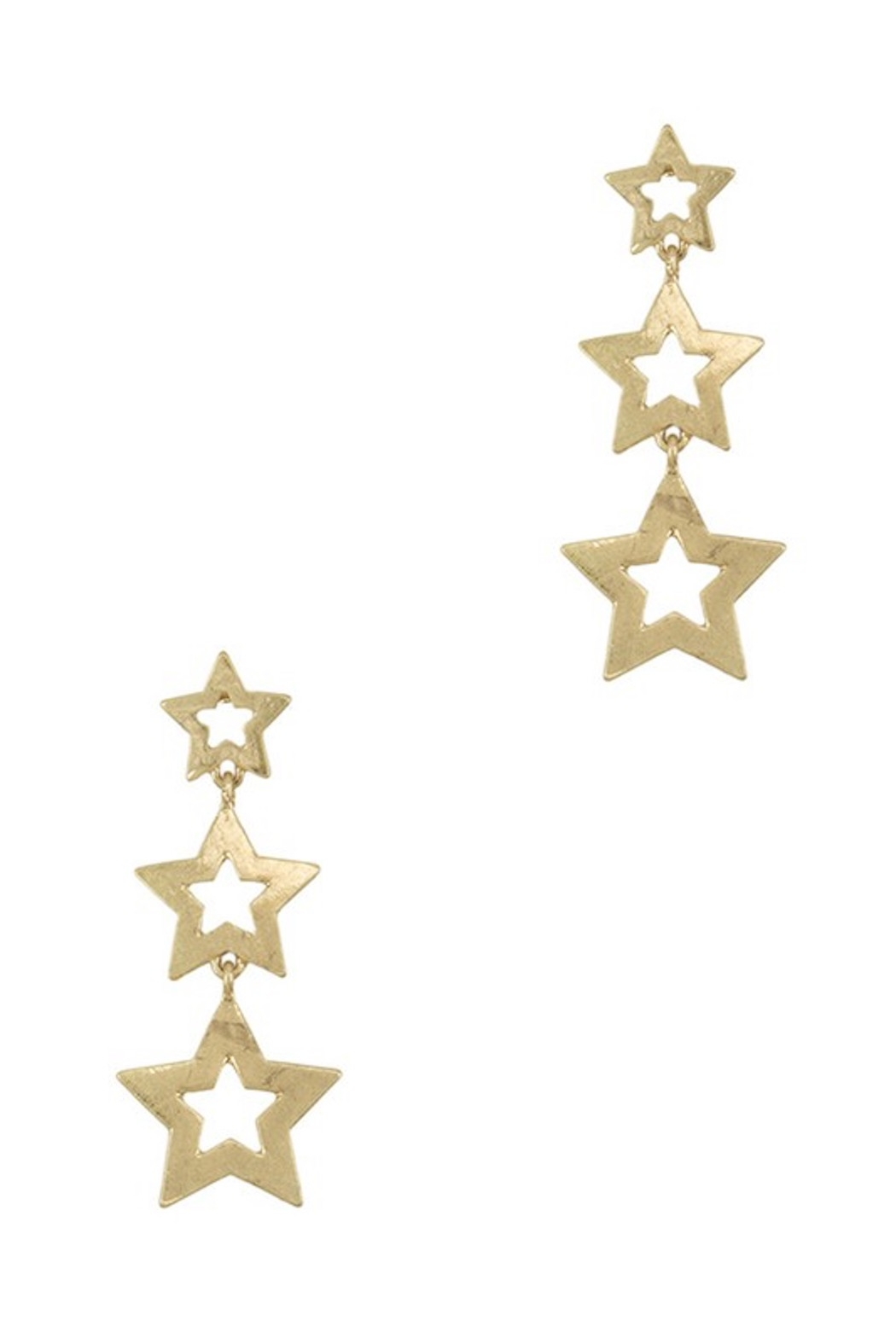 wildflower Dangling 3 Star Earrings - Main Image
