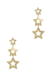wildflower Dangling 3 Star Earrings - Product Mini Image
