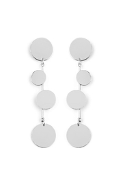 Riah Fashion Dangling Discs Earring - Product Mini Image