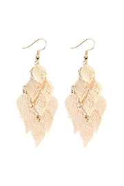 Riah Fashion Dangling-Filigree Leaf-Earrings - Product Mini Image