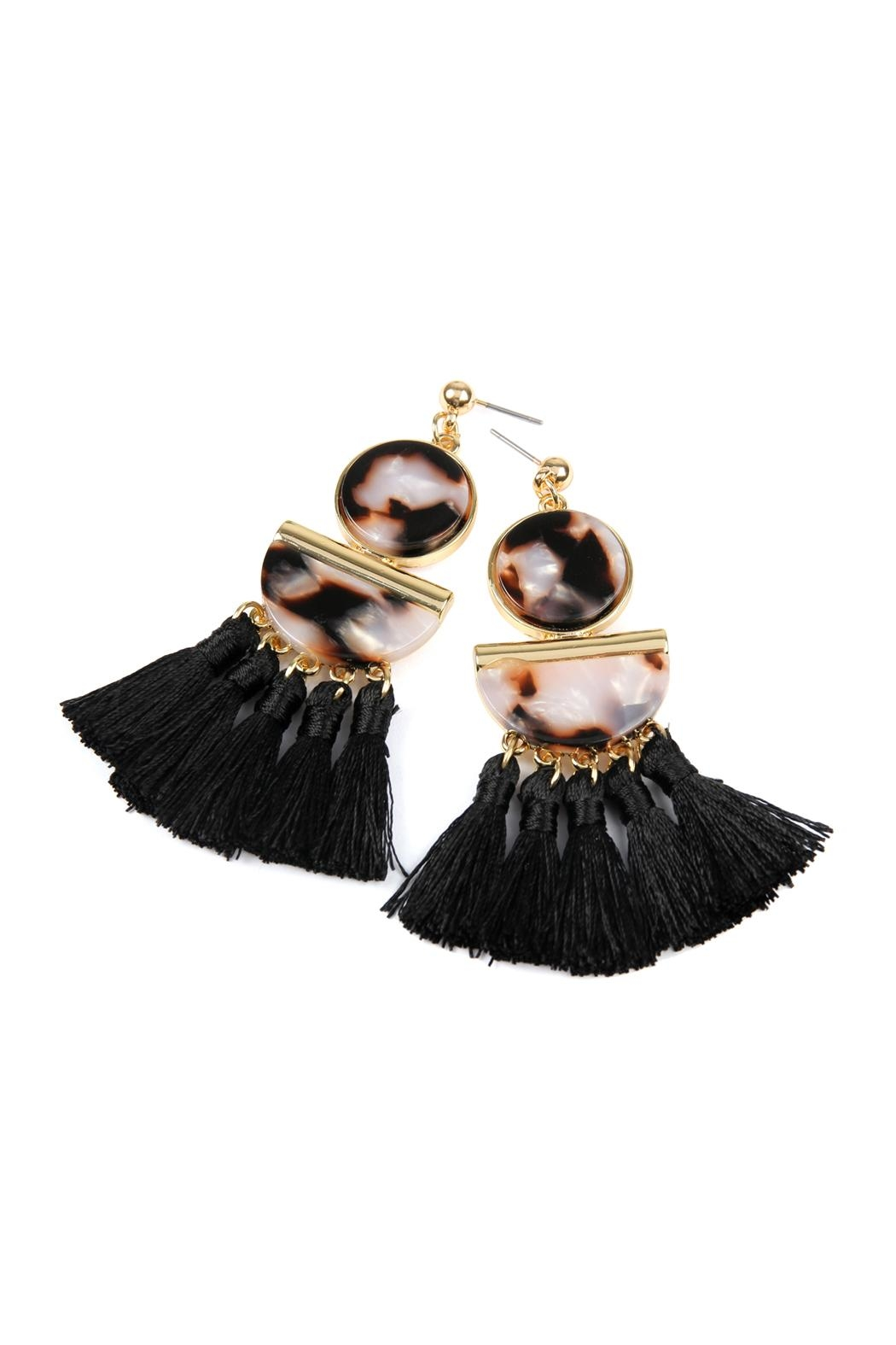 Riah Fashion Dangling-Resin With Tassel-Earrings - Side Cropped Image