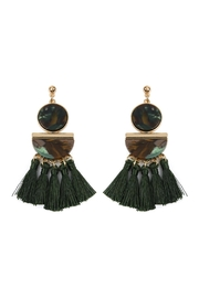 Riah Fashion Dangling-Resin With Tassel-Earrings - Front cropped