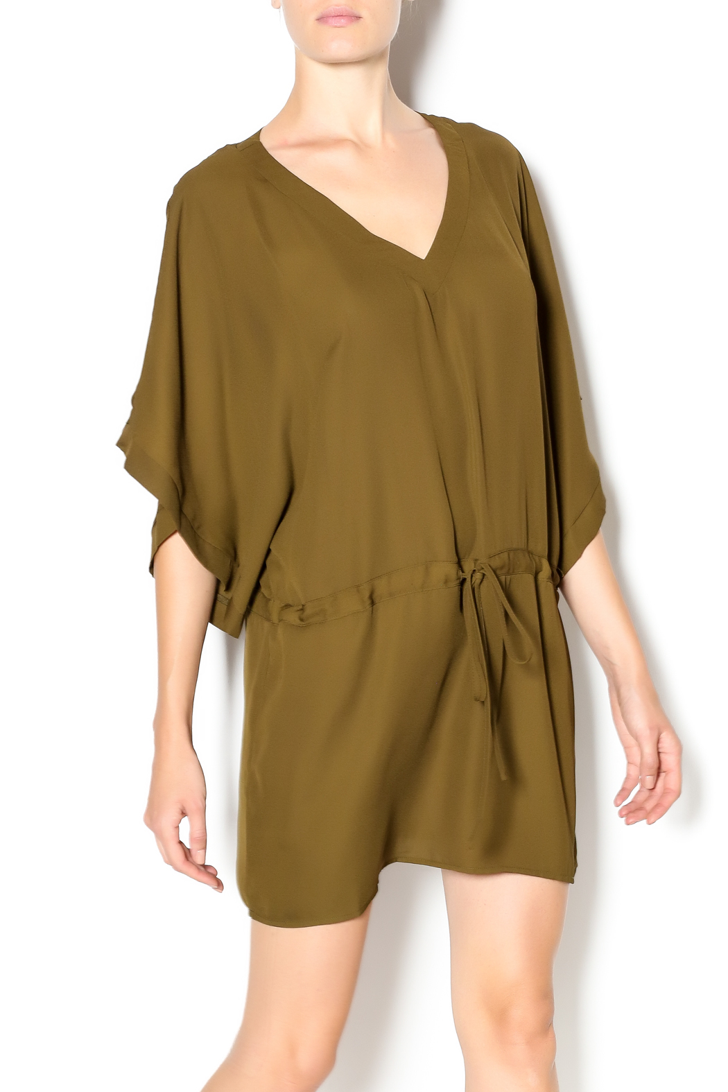 Dani Collection V Neck Olive Tunic Dress From Mississippi