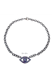 Love, Lisa Dani's Colorful Evil Eye Necklace - Front cropped