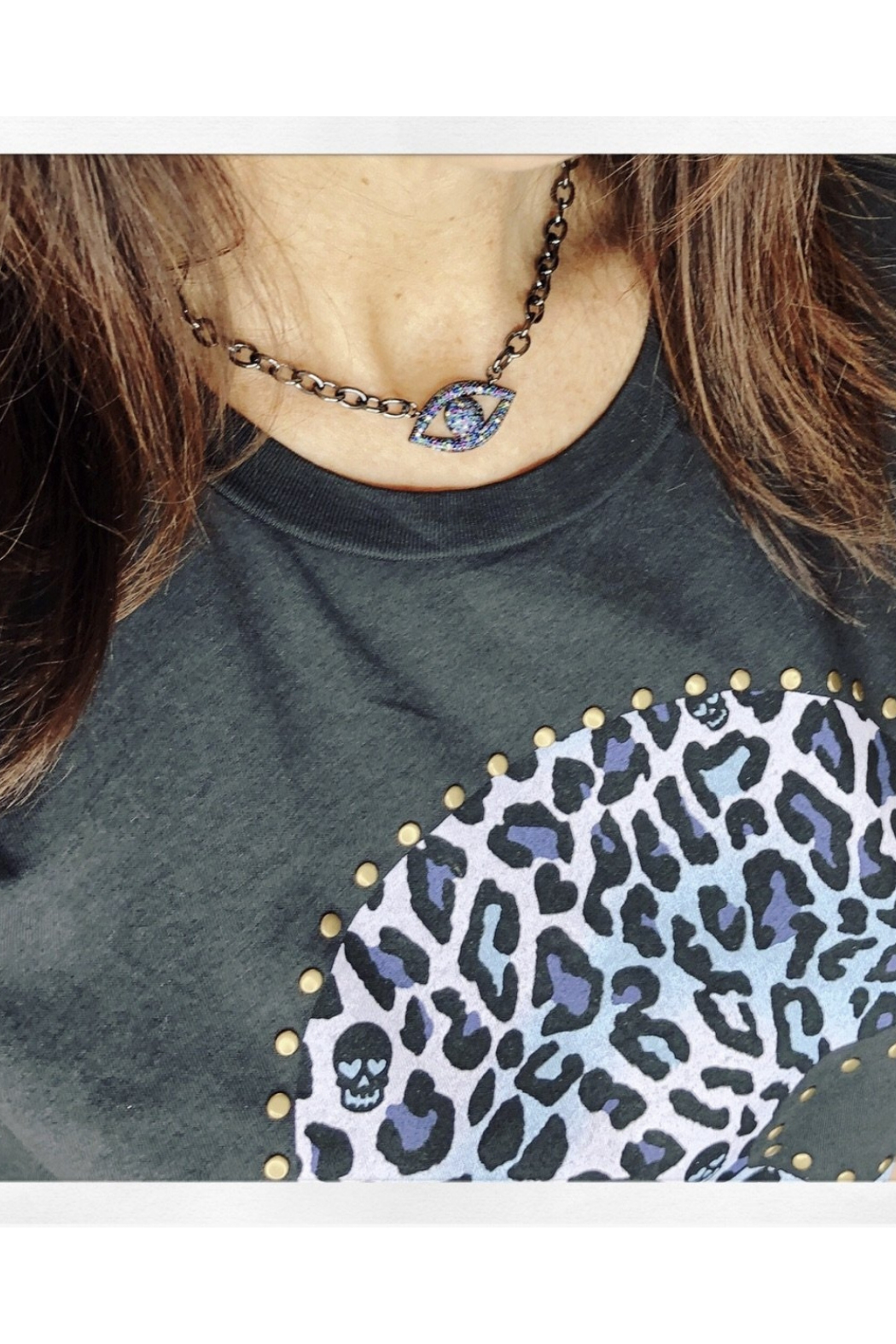 Love, Lisa Dani's Colorful Evil Eye Necklace - Front Full Image