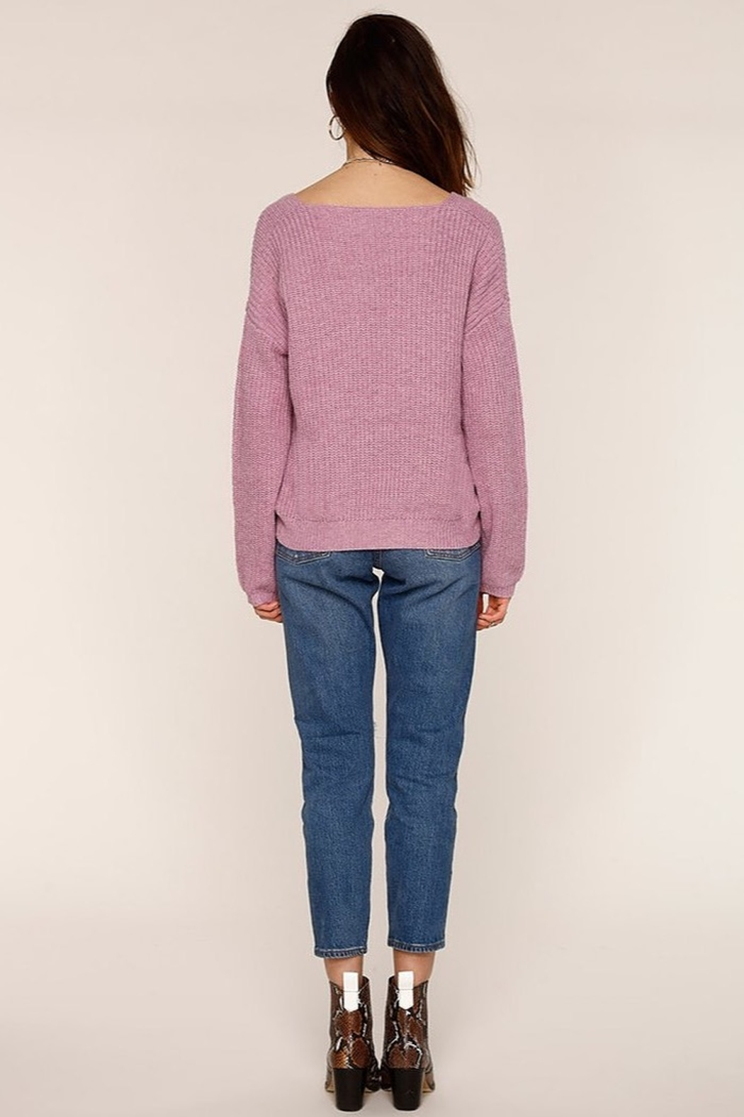 Heartloom Dani V-neck Sweater - Side Cropped Image