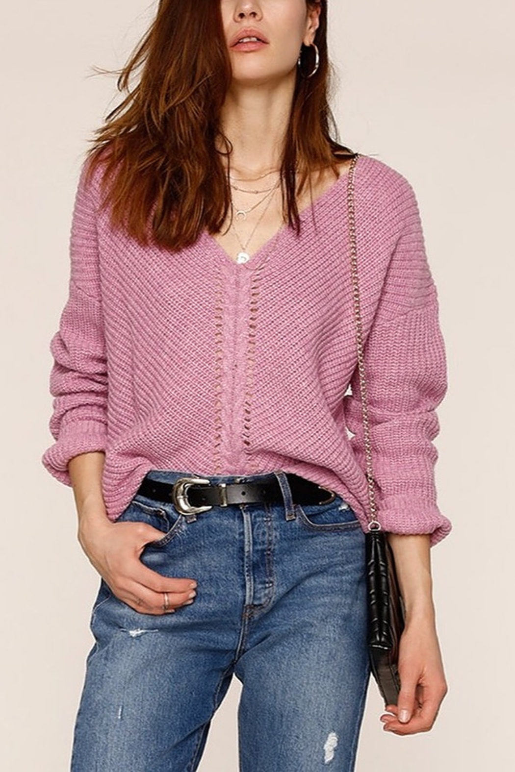 Heartloom Dani V-neck Sweater - Front Cropped Image