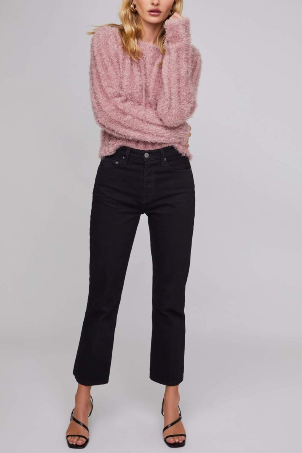 Aster Danica Sparkle Sweater - Front Cropped Image