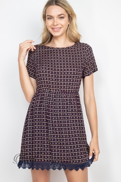 Shoptiques Product: Navy Taupe Dress