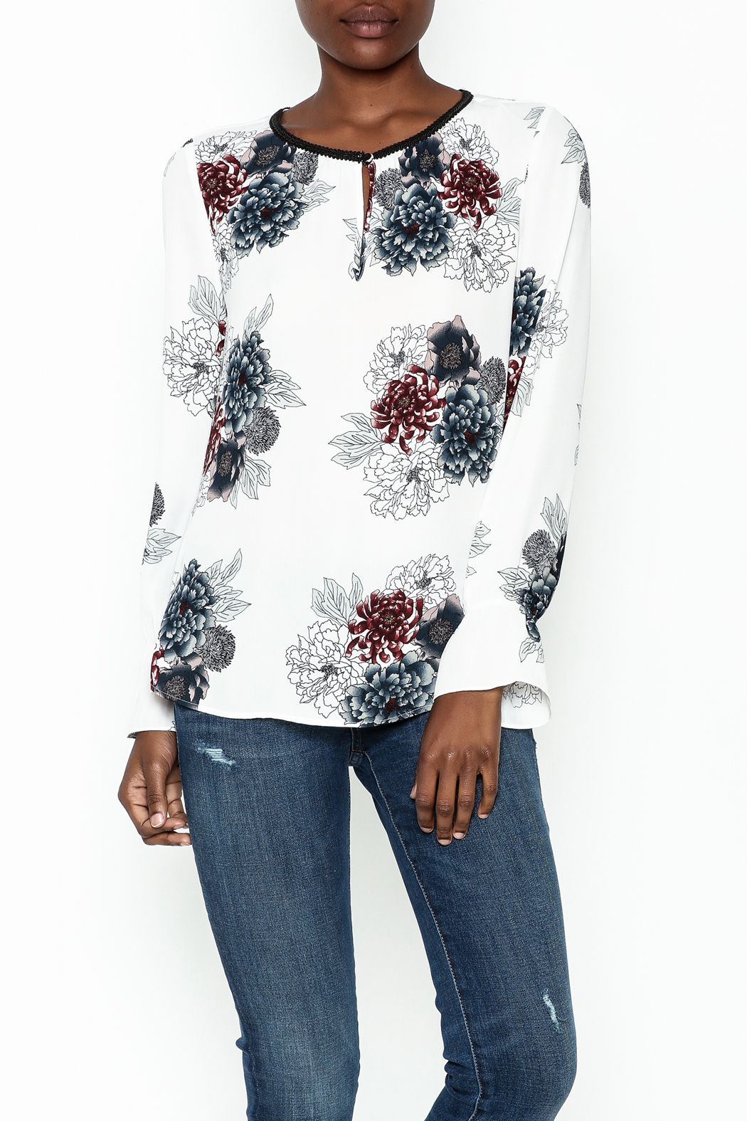 Daniel Rainn Floral Long Sleeve Top - Main Image