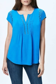 Daniel Rainn Blue Crochet Blouse - Product Mini Image