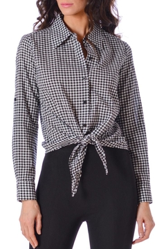 Shoptiques Product: Gingham Cabana Top