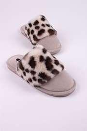 Pretty You London Danni Animal Print Slippers - Product Mini Image