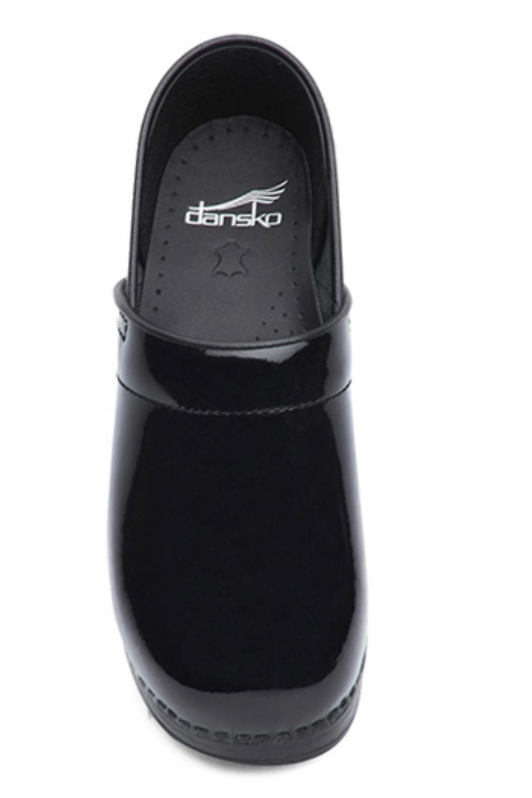 Dansko Black Patent Clog Shoes - Main Image