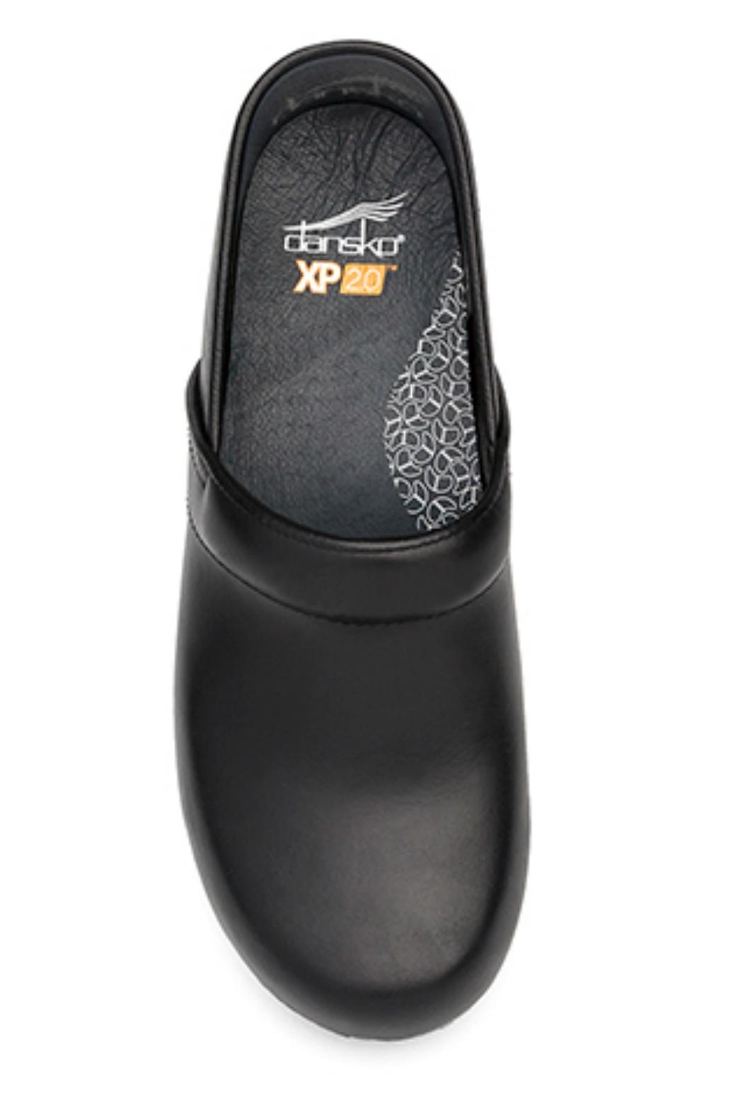 Dansko Black Pull Up Clog - Front Full Image