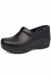 Dansko Black Pull Up Clog - Front cropped