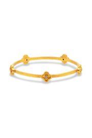 Julie Vos DAPHNE BANGLE-GOLD ZIRCON- SMALL - Front cropped