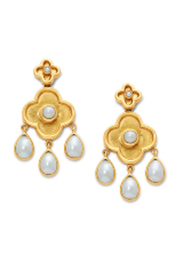 Julie Vos DAPHNE CHANDELIER EARRING-PEARL - Product Mini Image