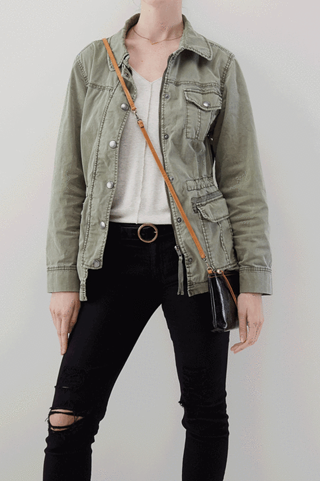 Hobo The Original Darcy Leather Crossbody - Side Cropped Image