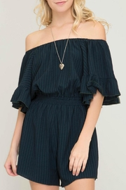 She + Sky Darcy Off-The-Shoulder Romper - Product Mini Image