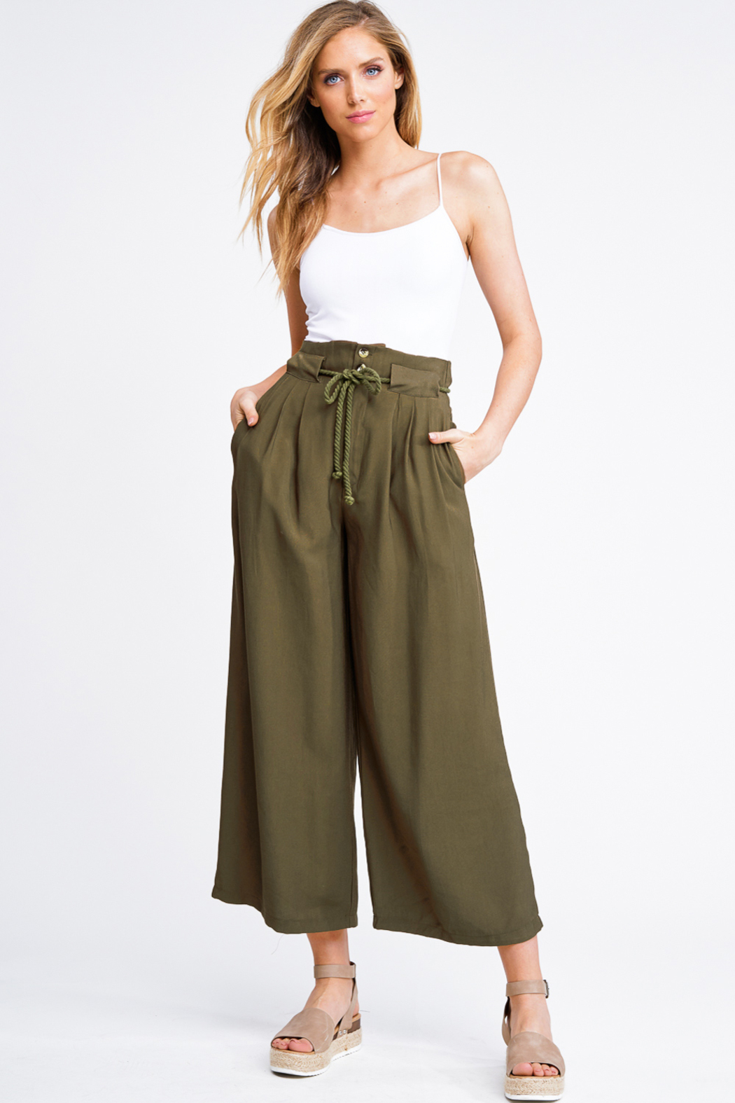 MONTREZ DARCY PAPERBAG WAIST TROUSER PANTS from California