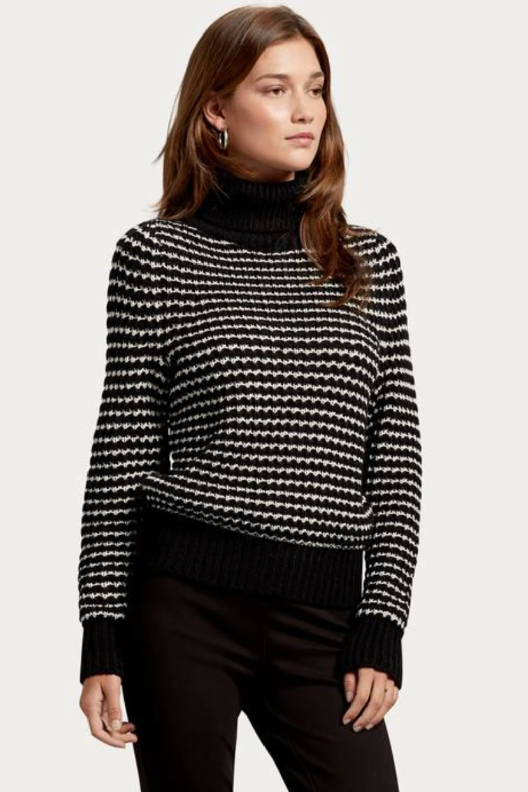 Michael Stars Darcy Turtleneck Pullover - Side Cropped Image