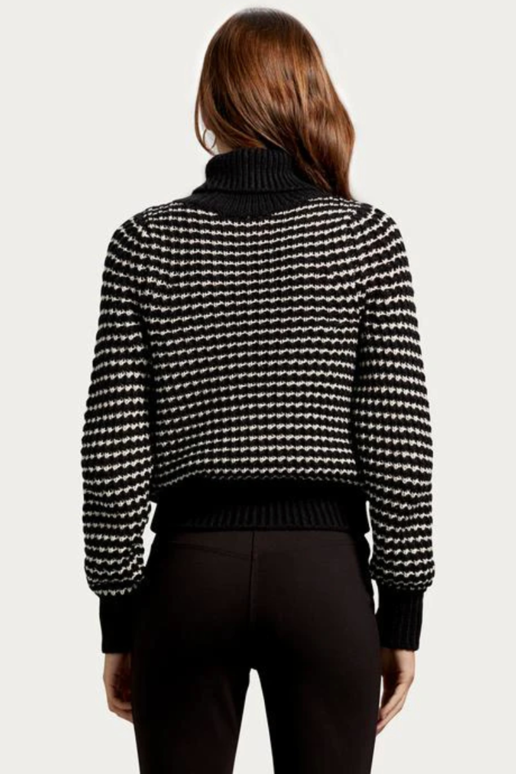 Michael Stars Darcy Turtleneck Pullover - Back Cropped Image