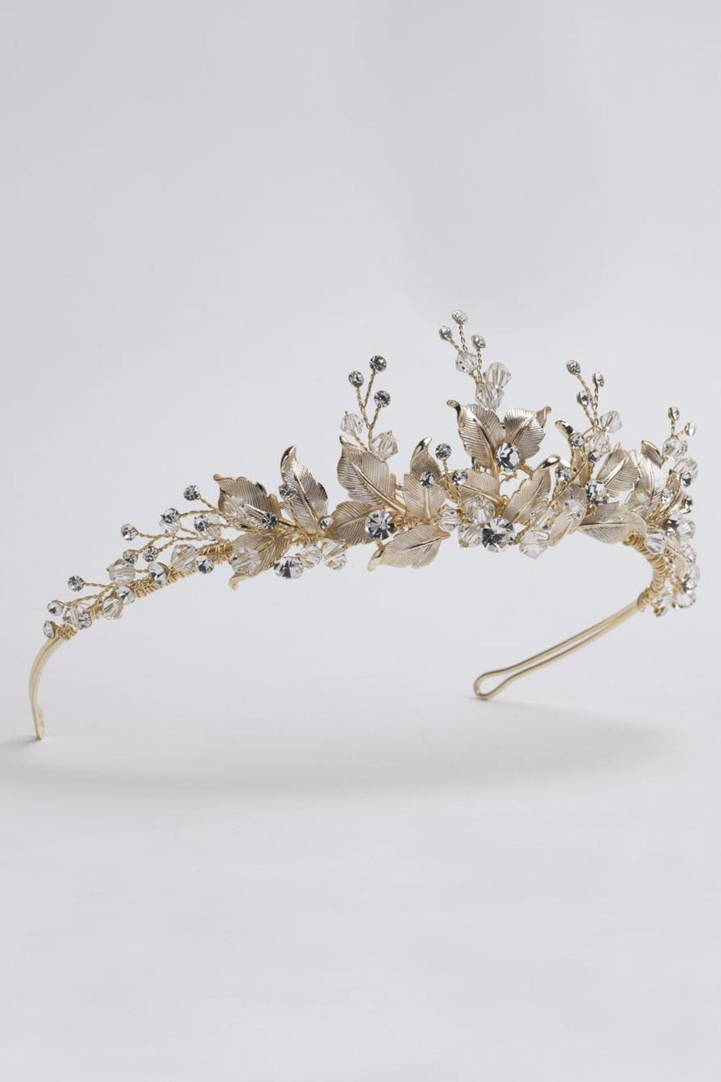 Dareth colburn collection gold flower crown from massachusetts dareth colburn collection gold flower crown side cropped image izmirmasajfo