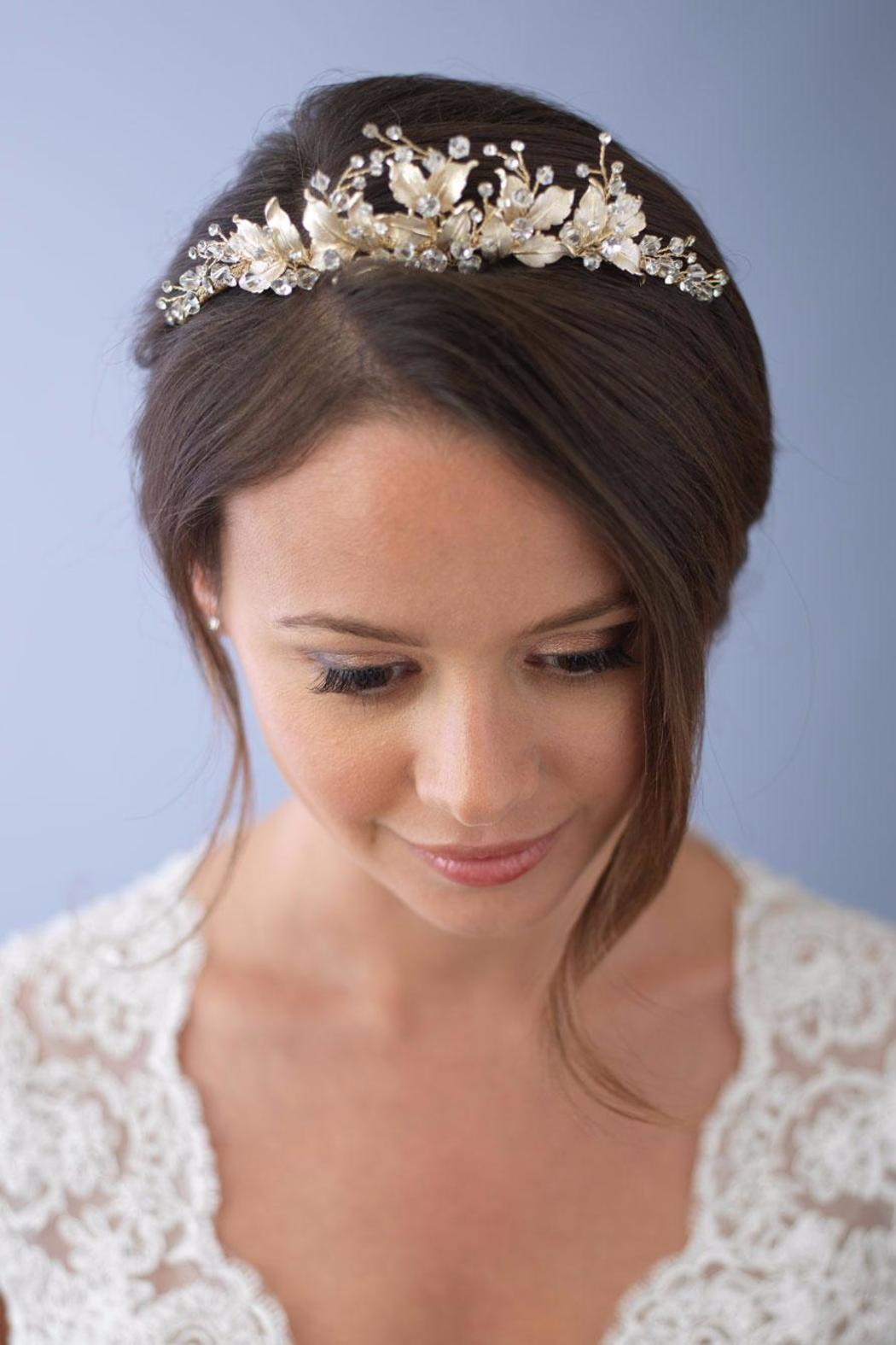 Dareth Colburn Collection Gold Flower Crown From Massachusetts