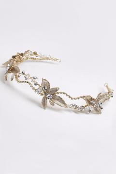Dareth Colburn Collection Gold Flower Headband - Alternate List Image